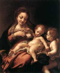 Correggio - Virgin And Child With An Angel