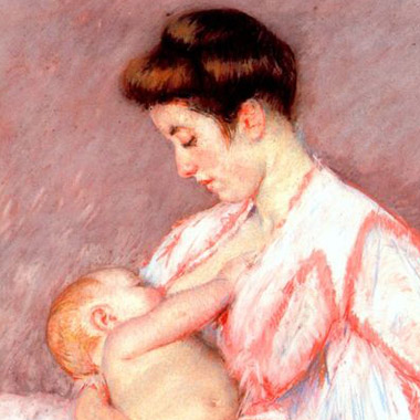 Mary Cassatt - Baby John Being Nursed, 1910