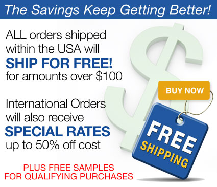 Free Shipping to Orders Over $100, and International Orders Ship for 50% off